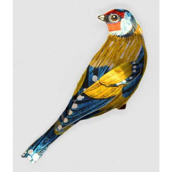 Goldfinch Enamel Brooch