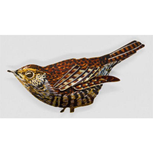 Wren Brooch 83x46mm