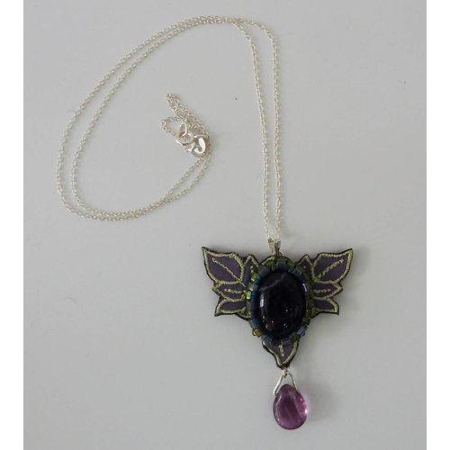 Vikki Lafford Garside Nouveau  embroidered necklace
