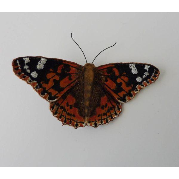Gemalte Dame British Butterfly Gestickte Brosche