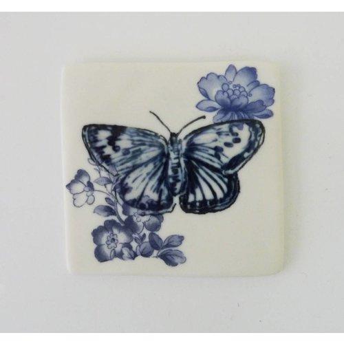 Martha's Grandad Blaue Schmetterlingsfliese