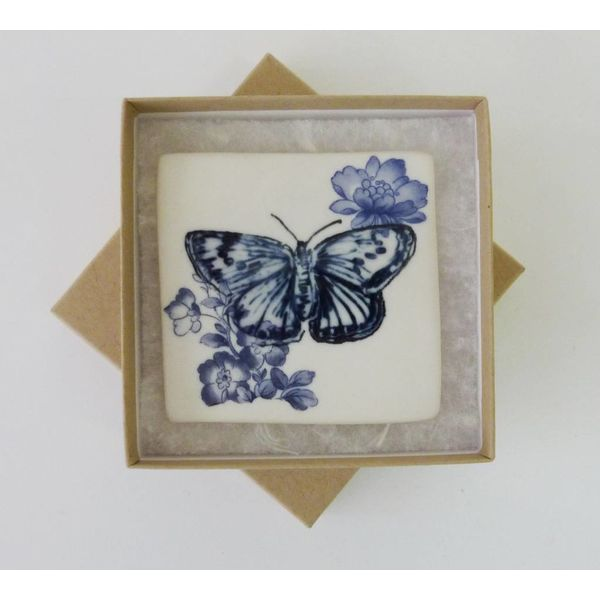 Blaue Schmetterlingsfliese