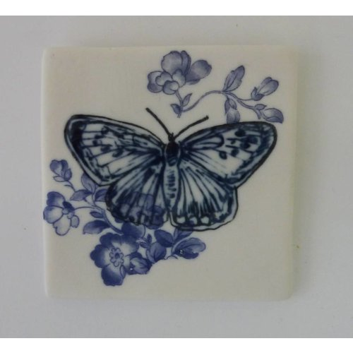 Martha's Grandad Blue Butterfy Tile