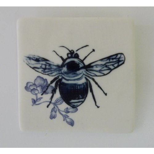 Martha's Grandad Blue Bumble Bee Tile
