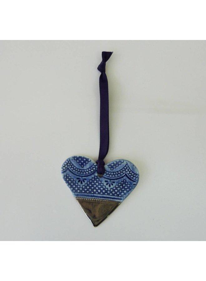 Herz Ornament Platin Glanz