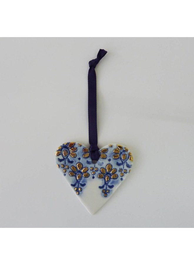 Copy of Heart ornament Platinum lustre