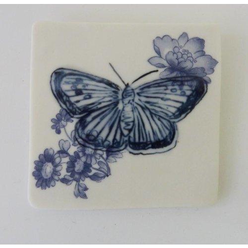 Martha's Grandad Azulejo azul de la mariposa