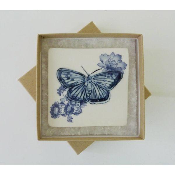 Azulejo azul de la mariposa