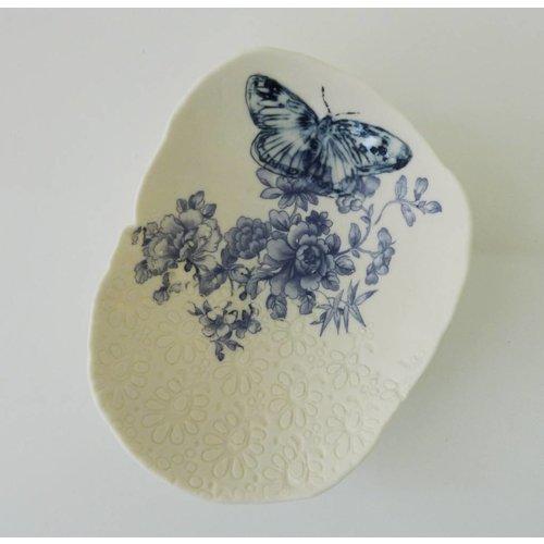 Martha's Grandad Blaue Schmetterlings-Vorratsschüssel