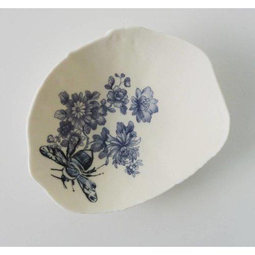 Martha's Grandad Azul floral Bumble Bee Bowl Bowl