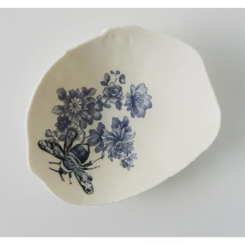 Martha's Grandad Blue Floral Bumble Bee Storage Bowl