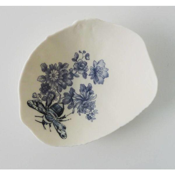 Azul floral Bumble Bee Bowl Bowl