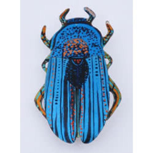 Melanie Tomlinson Blue Enamel Beetle Brooch