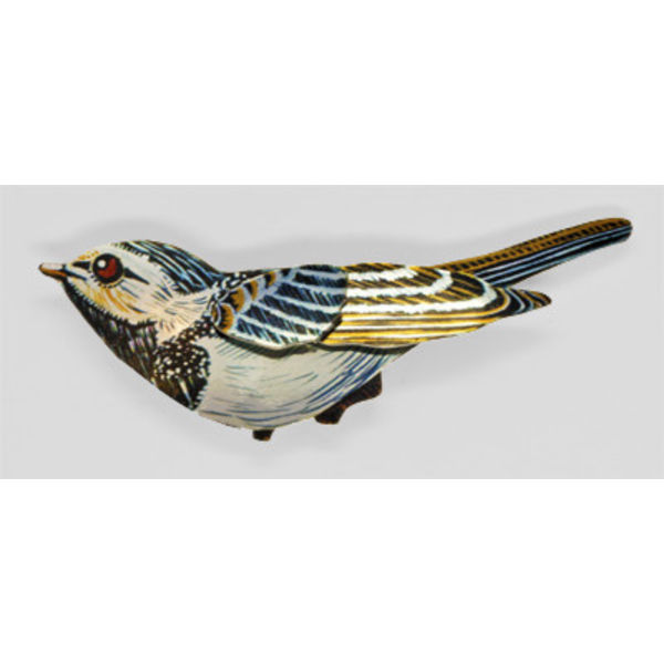 Pied Wagtail Brooch 83x35mm