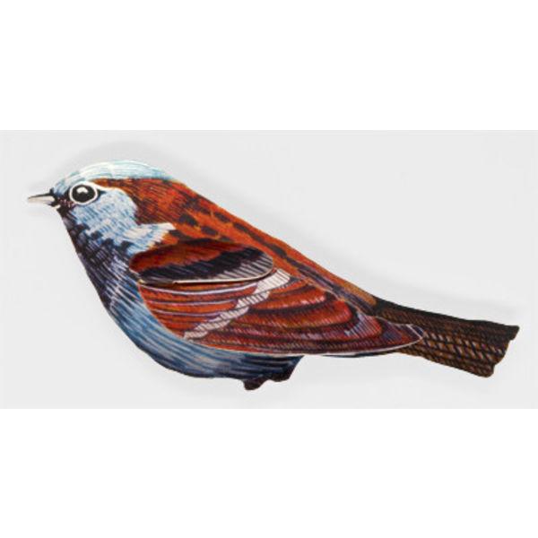 Sparrow Enamel Brooch
