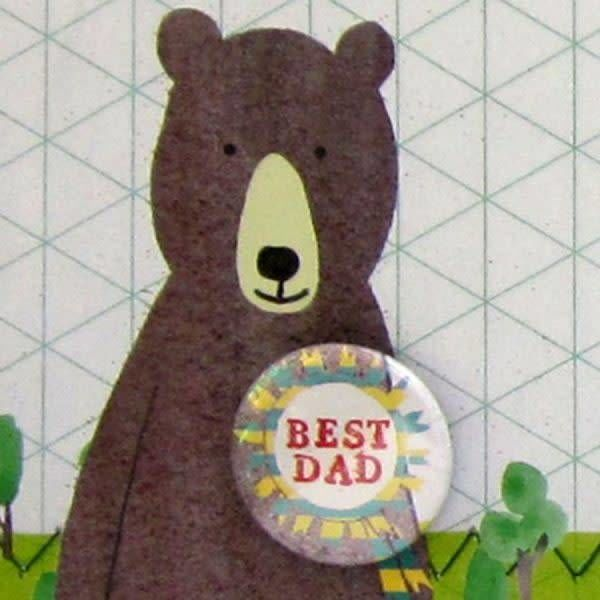 Best Dad Badge Card