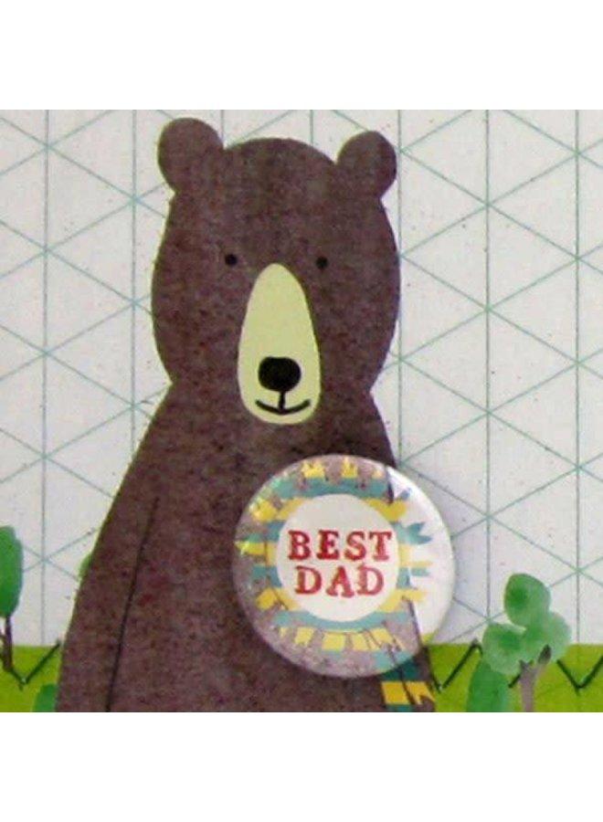 Best Dad Badge Card