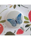 Strawberry and Butterfly Badge Card