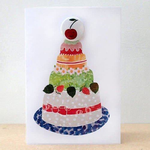 Black Rabbit Cherry Cake Badge Card