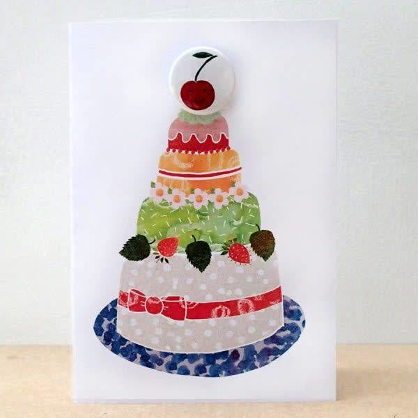 Cherry Cake Badge Card