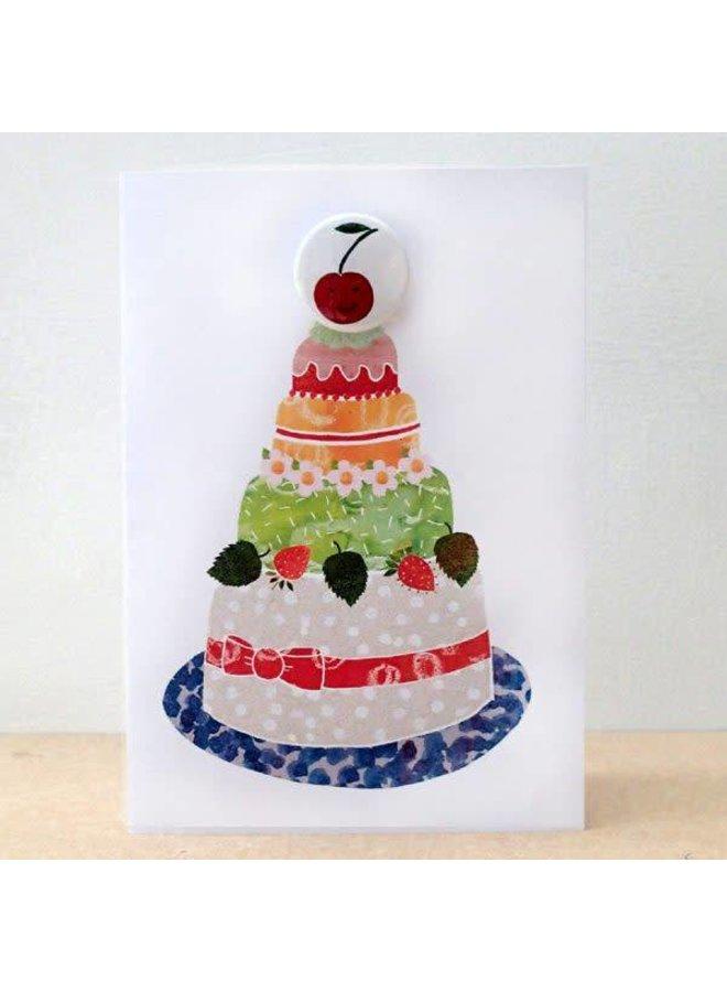Cherry Cake Badge Card