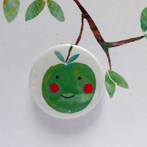 Happy Apple Badge Card