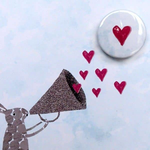 Heart Megaphone Badge Card