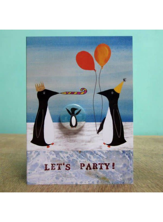 Party Penguins Badge Card