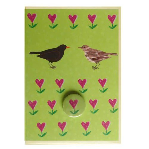 Black Rabbit Blackbirds Badge Card