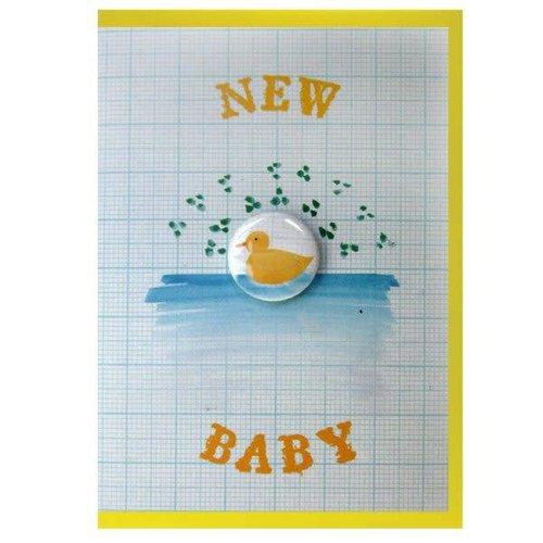 Black Rabbit New Baby Badge Card