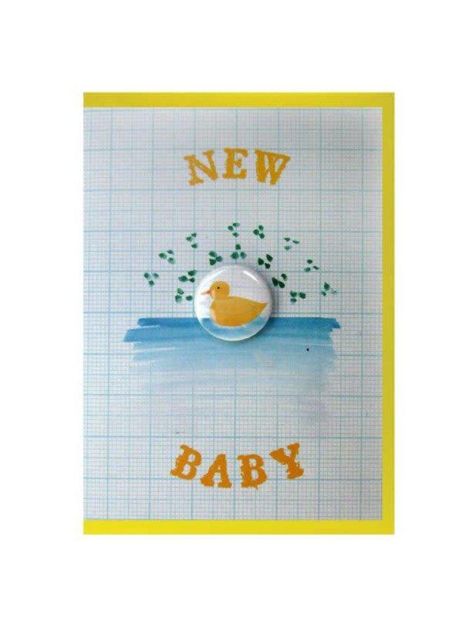 New Baby Badge Card