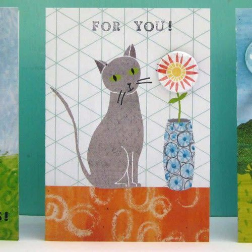 Black Rabbit For You cats Badge Card