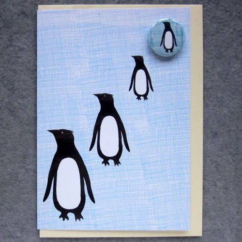 Black Rabbit Penguin Badge Card