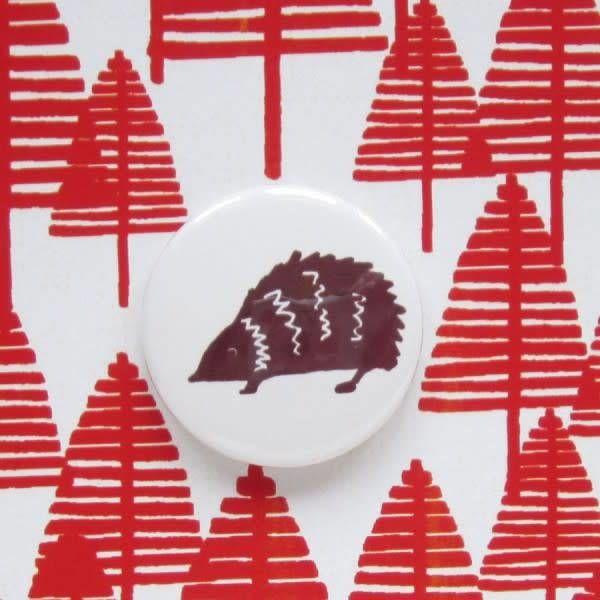 Hedgehog Badge Card
