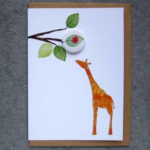 Black Rabbit Giraffe Badge Card