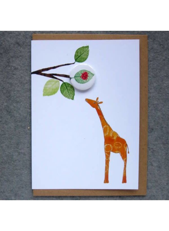Giraffe Badge Card