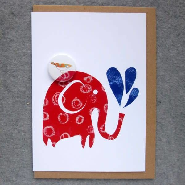 Elephant Water Badge Card