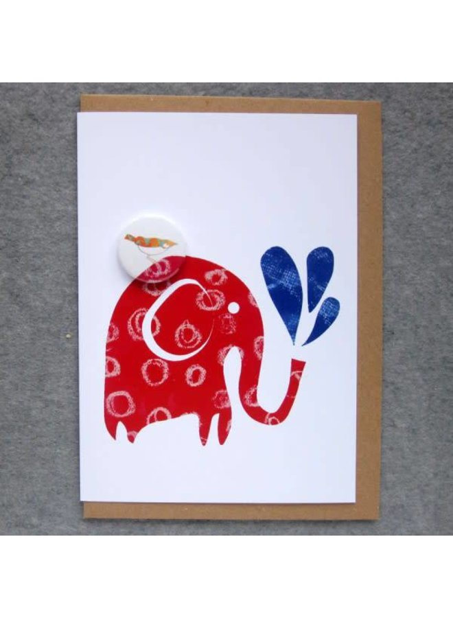 Elephant Water Badge Card