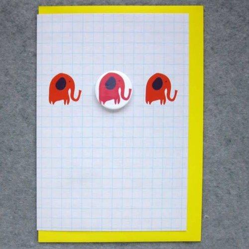 Black Rabbit 3 Elephants Badge Card