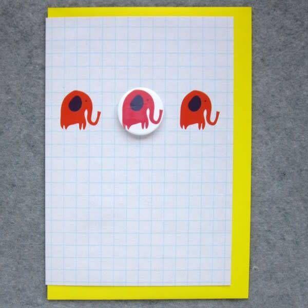 3 Elephants Badge Card