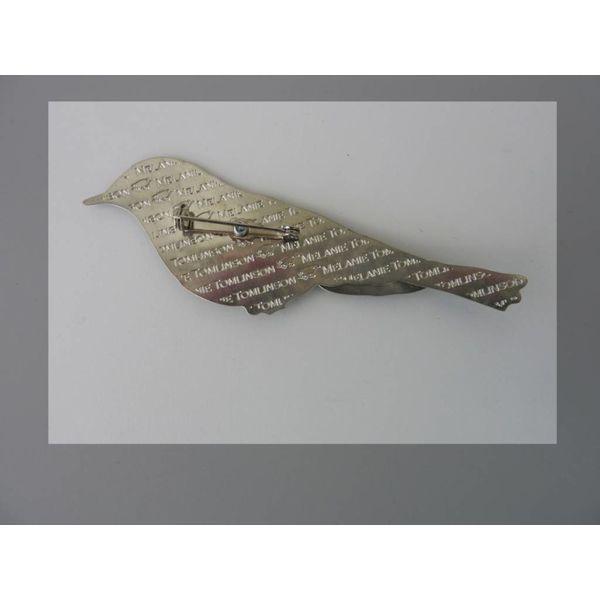 Wood Warbler Enamel Brooch