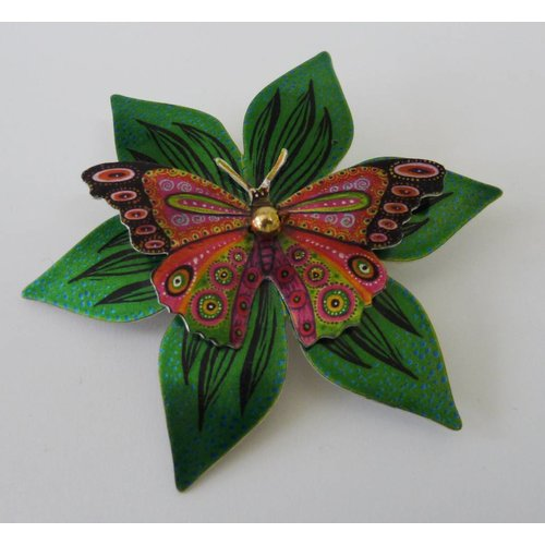 Melanie Tomlinson Double Butterfly flower brooch