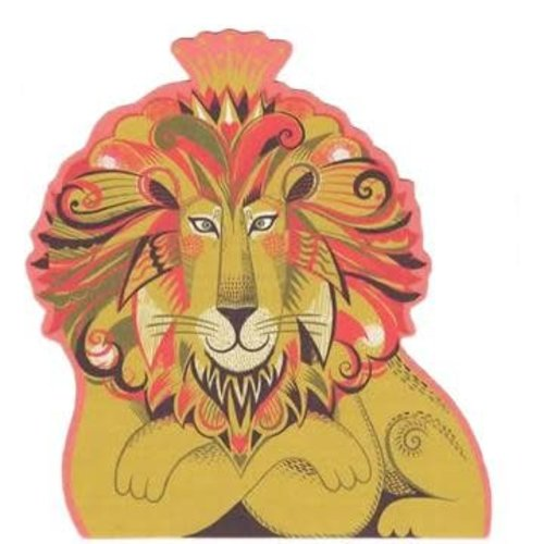 Art Angels Leo Lion cut card by Sarah Young