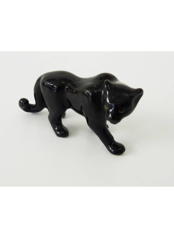 Black Panther charm hand painted porcelain