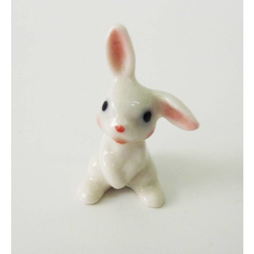 And Mary White Baby Rabbit charm hand painted porcelain