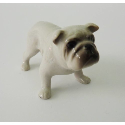 And Mary White Bull Dog charm hand painted porcelain