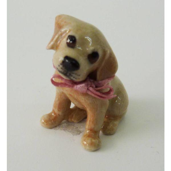 Golden Labrador Puppy Charm handbemaltes Porzellan