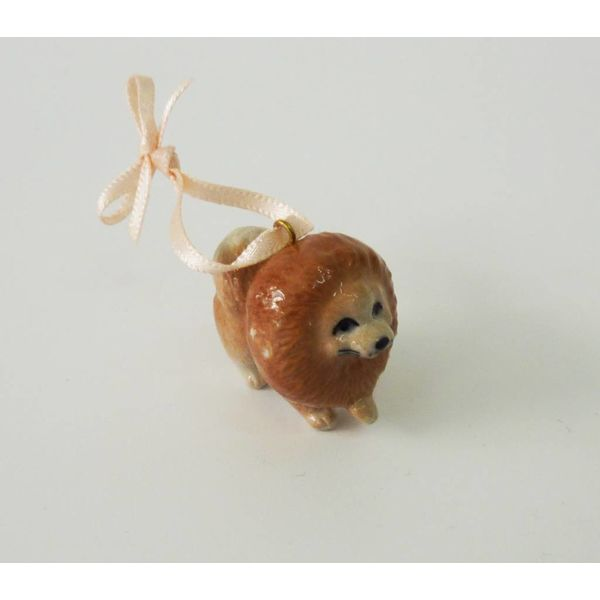 Pomeranian Dog charm porcelana pintada a mano
