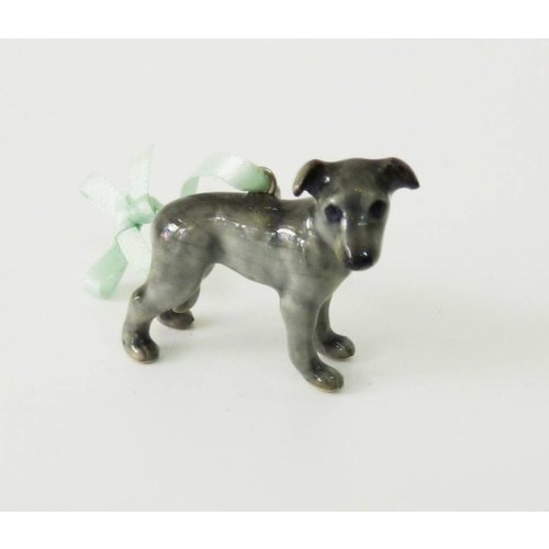 And Mary Grey Whippet charm hand painted porcelain