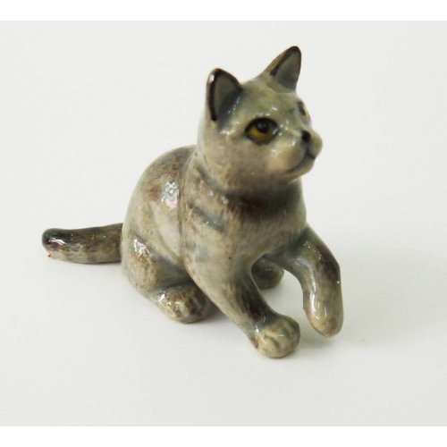 And Mary Grey Cat charm hand painted porcelain